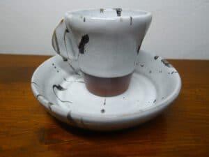 Espressotasse u. Teller schwarzweiss1060667