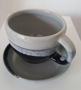 Tasse,Aspahlt, m.Teller101146